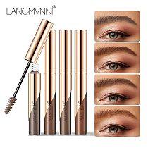 4 Colors Eyebrow Mascara Cream Brush Microblading Long Lasting Waterproof Eye Brow Gel Pen Makeup Cosmtic Tool  Sobrancelh TSLM1