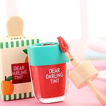 Brand 5 Colors batom Super Ice Cream Lip Gloss Waterproof Long Lasting Makeup Liquid Lipstick Sweet Red Lip Tint