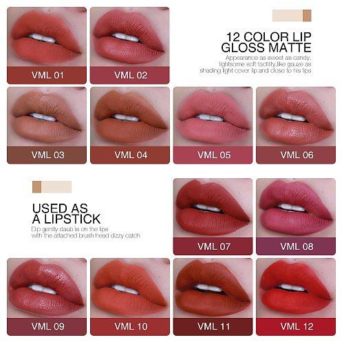 O.TWO.O Matte Lipstick Liquid Waterproof Long Lasting Velvet Lip Gloss Makeup Smooth Pigment Lip Tint Red Lips Cosmetics