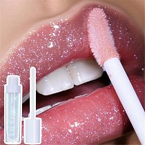 3D Lip Plumping Shiny Pearl Lip Gloss Transparent  Moisturizer Lip Plumper Shiny Colorless Lip Coats Oil Lips Makeup Beauty Tool