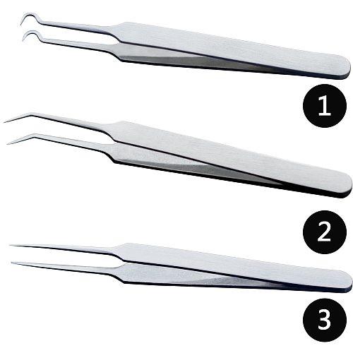 1PCS Professional Tweezers 3 Designs for Nail Art/Face Care/Eyelash Extension Blackhead Acne Blemish Pimple Remove Tools CH213