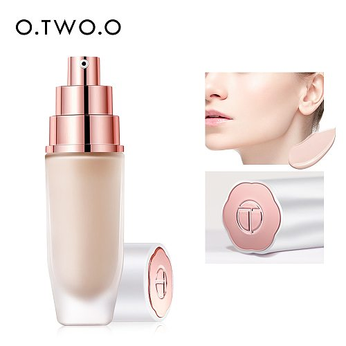 O.TWO.O Liquid Foundation Makeup Base Oil-Control Concealer Waterproof Long Lasting  Natural Makeup BB Cream Cosmetics
