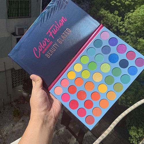 Beauty Glazed 39 Colors Fusion Makeup Eyeshadow Pallete Highlighter Shimmer Make up Pigment Eyeshadow Palette Cosmetics