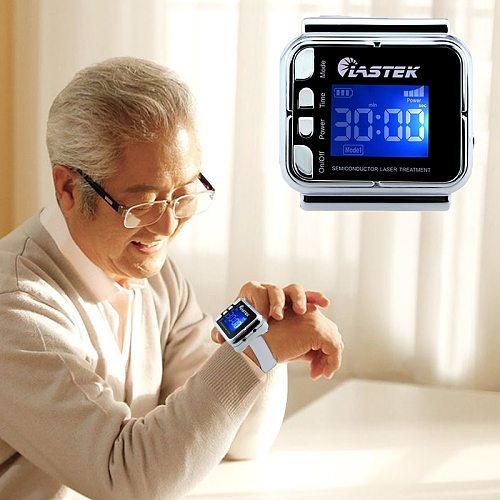 LLLT High Blood Sugar Laser Therapy Watch for Diabetes Cholesterol Hypertension Physiotherapy Medical Device