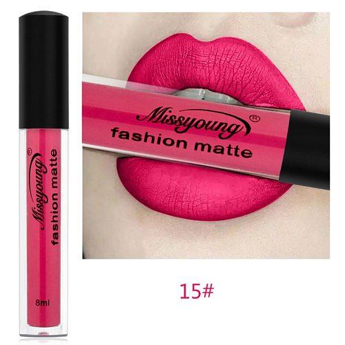 Sexy Black 18 Color Matte Lipgloss Sexy Liquid Lip Gloss Matte Long Lasting Waterproof Cosmetic Beauty Makeup Lipgloss MG10