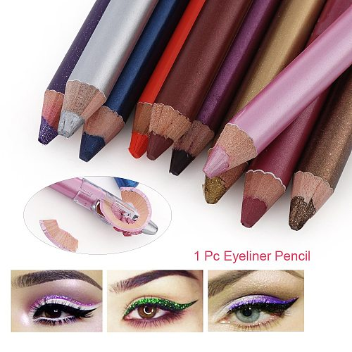 1PC 12 Colors Long Lasting Eyeliner Pen Highlighter Pigment Waterproof Glitter Eyeshadow Pencil Eye Makeup Beauty Cosmetics