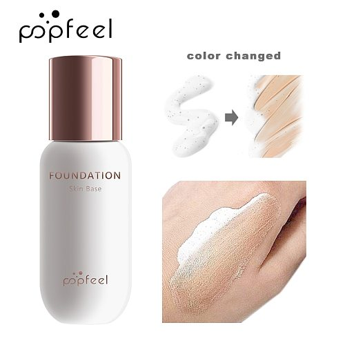 New POPFEEL 30ml Magic Face Foundation Color Changing Liquid Foundation Oil-control  Makeup Change Skin Tone Concealer TSLM1