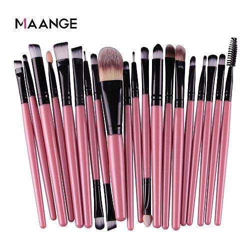 MAANGE 3/20 Pcs Makeup Brush Set Pro Eyeshadow Blending Foundation Powder Eyebrow Brush Double Head Brush Beauty Make Up Kits