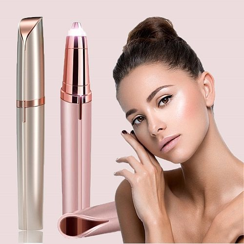 New Style Electric Eyebrow Trimmer Makeup Painless Eye Brow Epilator Shaver Razors Portable Facial Hair Remover For Women