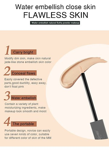 Face Concealer Cream Full Coverage Makeup Liquid Facial Foundation Waterproof Base Make Up For Eye Dark Circles Cosmetic TSLM1