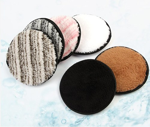 Maange 1-3 Pcs Puffs Double Sided Makeup Remover Face Cleansing Towel Reusable Cloth Pads Cute Sponge