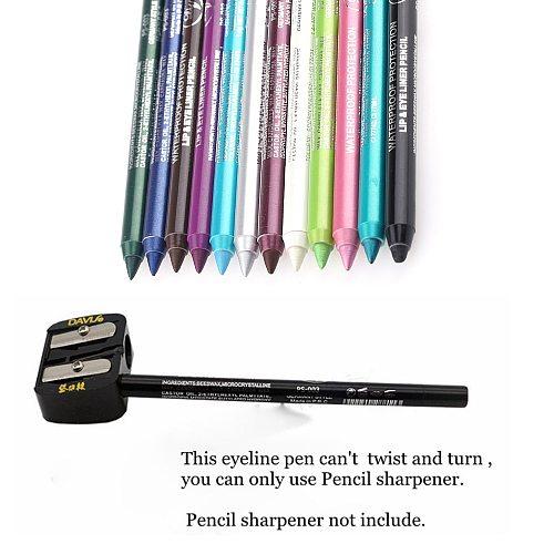 1Pcs Charming Women Longlasting Waterproof Eye Liner Pencil Pigment White Color Eyeliner Cosmetic Makeup Beauty Tools