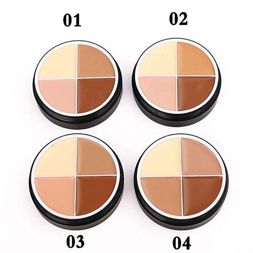 4 Colors Face Makeup Concealer Oil Control Full Cover Long-lasting Moisturizing Repairing Clear Smooth Beauty Makeup Skin Care