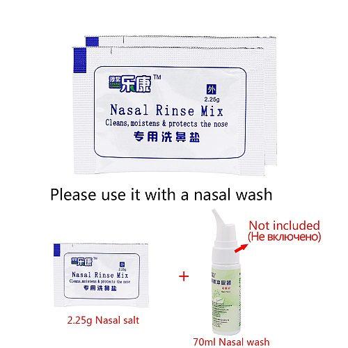 60/50 Bags Nasal Wash Salt Allergic Rhinitis Children Cleaning Nose Protector Nasal Irrigation Salt 2.25g For 70ML Nose Cleaner