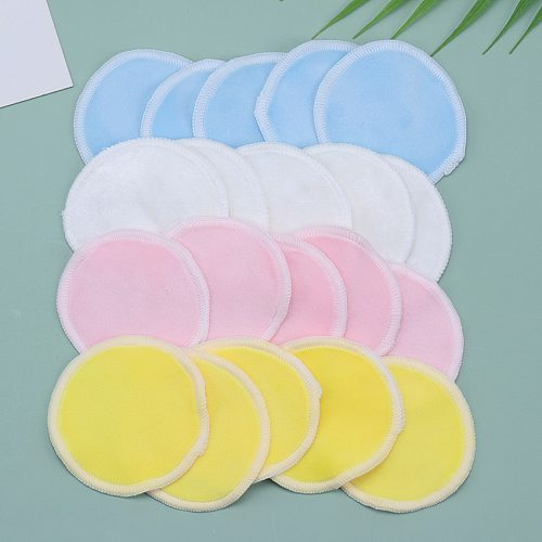 5PCS Reusable Cotton Pads Makeup Remover Washable Facial Cleansing Double Layer Washable Pad Cosmetics Skin Care