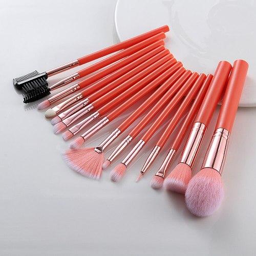 FLD 5/15pcs Kabuki Synthetic Makeup Brushes Set Foundation Blending Eye Shadow Eyelash Eyebrow Comb Brush Brochas Maquillaje Kit