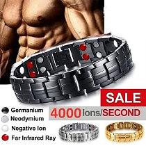 Male Bio Health Care Bracelet & Bangle Slimming Product Fashion Stainless Steel Tourmaline Magnetic Bracelets For Women Men