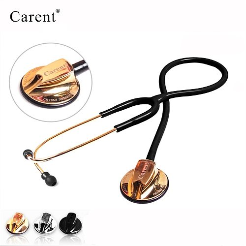Carent Professional Estetoscopio Dual Medical Silverback Stainless Steel Stethoscope For Doctor Nurse Fetal Heart Rate