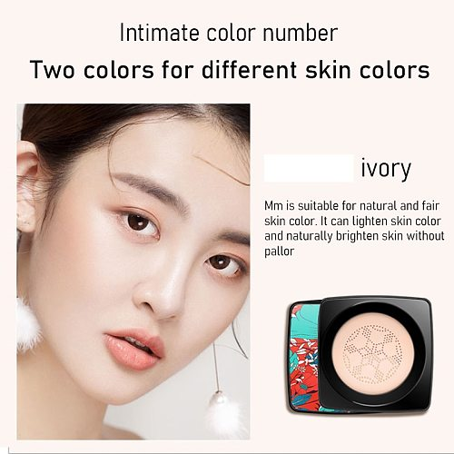 Mushroom Head Make Up Air Cushion Moisturizing Foundation Air-permeable Natural Brightening Makeup BB Cream Ivory White/Natural