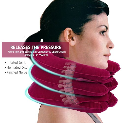 Inflatable Cervical Collar Air Cervical Neck Brace Medical Neck Traction Therapy Vertebra Support Neck Stretcher Pain Relieve