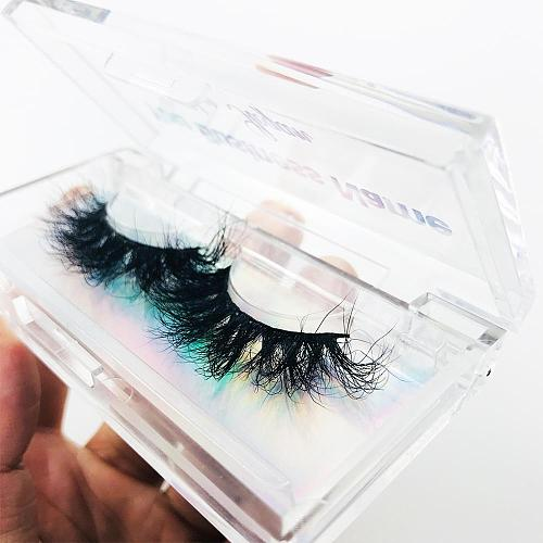 FOXYFOX Custom eyelash packaging box Plastic Acrylic Case With Tray Wholesale Lashes Private Label Logo Packing Box Empty Case