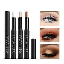 FOCALLURE 12 Colors Eyeshadow Sticker Cosmetics Shadows Pencil Eyeliner Highlighter Shimmer Pigment Professional Female Makeup