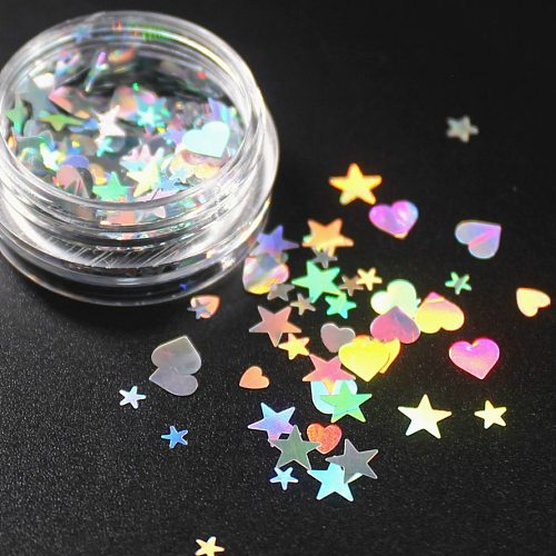 1 Box 9 Colors Optional Monochrome Eye Powder Shadow Women Beauty Eye Make Up Shinning Glitter Powder Makeup Star A Heart CHTY03