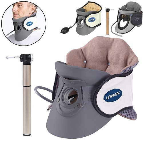 Neck Cervical Vertebra Tractor Medical Back Neck Massager Pain Relief Portable Inflatable Cervical Traction Device Home Use