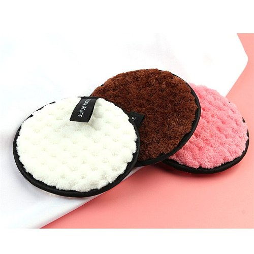 New Face Makeup Remove Puff 1pc MAANGE Makeup Remover Towel Face Cleansing Cloth Pads Plush Puff Fashion J08#40