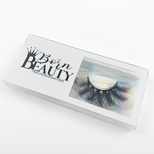 Foxyfox wholesale 20/50pcs 3d mink lashes case eyelash packaging box lash boxes packaging custom logo plastic sliding clear box