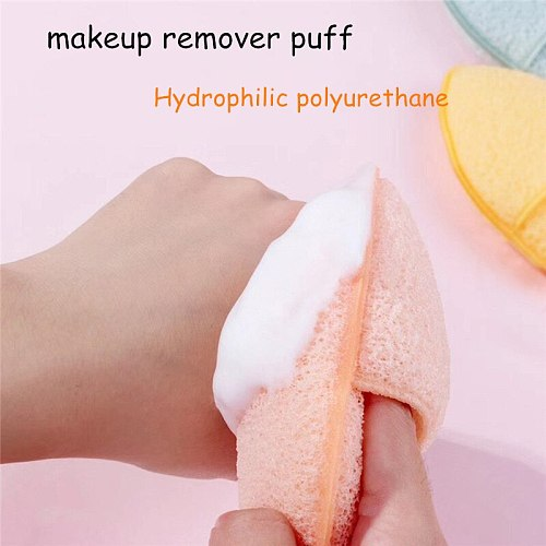 Skin Care Cleaning Powder Puff Oval Shape Face Cleaning Sponge Puff Makeup Cosmetic Remover Facial Skin Cleaner Make Up Beauty