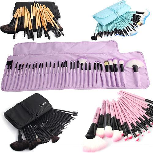 Yuwaku Professional 32Pcs/Set Makeup Brush Foundation Eye Shadows Lipsticks Powder Make Up Brushes Tool Bag Pincel Maquiagem Kit