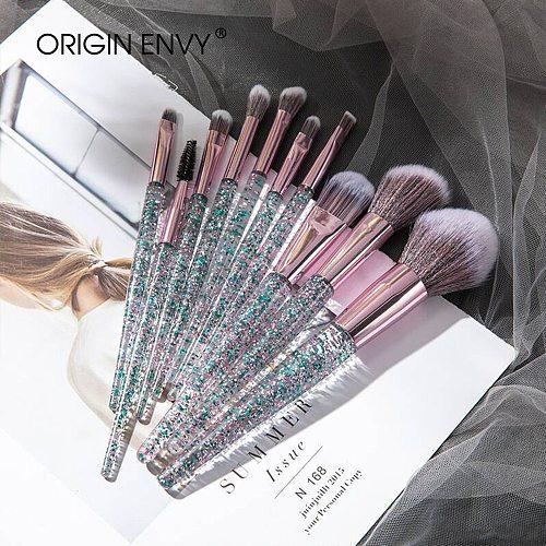 ORIGIN ENVY 10Pcs Professional Makeup Brushes Set Cosmetic Brush Beauty Tool Kits For Foundation Eyebrow Powder Lip Eye Shadow