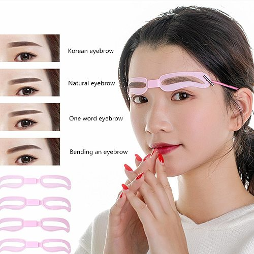 4 Styles/Set Thrush Card Eyebrow Stencil Grooming Eyebrow Artifact Shaper Kit Reusable Cosmetics Makeup Tools Beauty Accessories