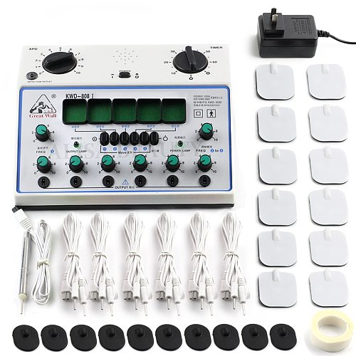 kwd808i Stimulator Full Body Relax Muscle Massager Pulse Tens Acupuncture Therapy 6 Channel KWD808 I KWD-808 I KWD 808I KWD808-I