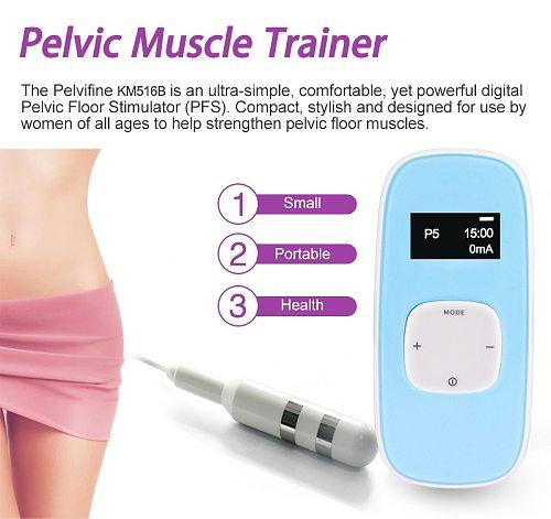 TENS EMS Pelvic Floor Muscle Stimulator Vaginal Trainer Kegel exerciser Women improve incontinence intimate sensation Tighten