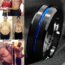 1PC Magnetic Therapy Lose Weight Rainbow Ring Titanium Steel RingSlim Ring Men Women Health Care Jewelry