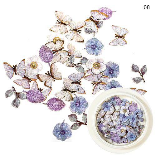Butterfly Bee Sequins For Nails Art Decoration Mixed Rose Flower Leaf DIY Nail Art Paillettes Jewelry Manicure Accessory
