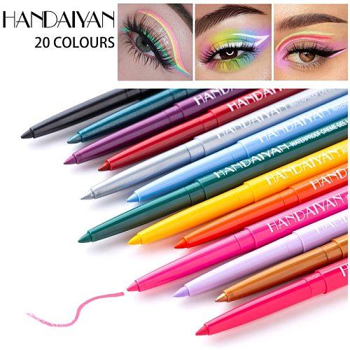 1PC 20 Colors Ultra-fine Eyeliner Gel Professional Long-lasting Waterproof And Sweat-proof White Black Eye Liner Makeup TSLM2