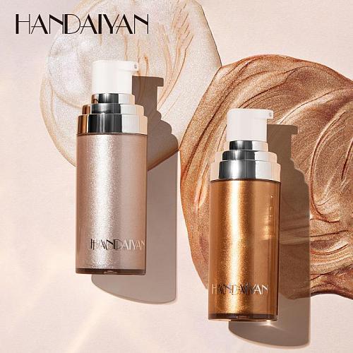 HANDAIYAN Makeup Highlighter Illuminator Contouring Face Brightener Concealer Liquid Foundation Cream Highlighter Primer TSLM1