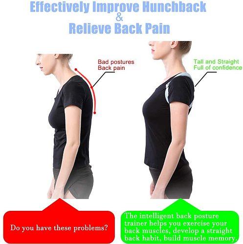 Smart Posture Corrector Back Trainer Adjustable Back Straightener Posture Corrector Back Support Brace for Women Men Children