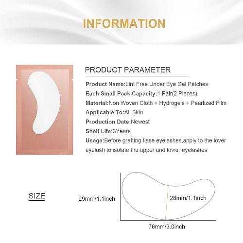 10/20/50pairs/pack Hydrating Eye Tip Stickers Wraps Eye Care Pad New Paper Patches Under Eye Pads Lash Under Eye Gel Patches