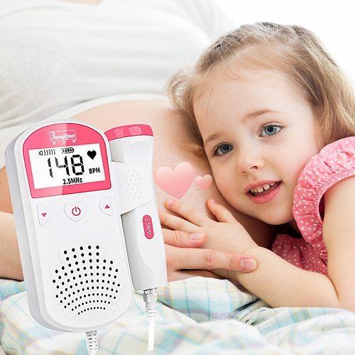 Fetal Doppler 2.5M Prenatal Baby Heart Rate Detector Household Sonar Doppler Stethoscope Pregnant Women Doppler Fetal Monitor