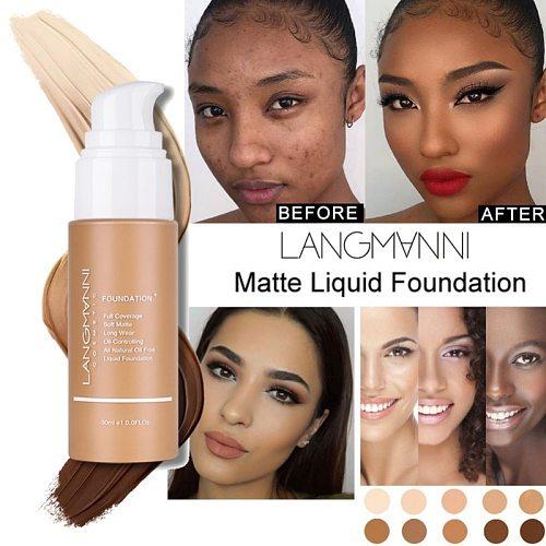 30ml Liquid Foundation Soft Matte Concealer Primer Base Professional Face Make Up Palette Makeup Cosmetic