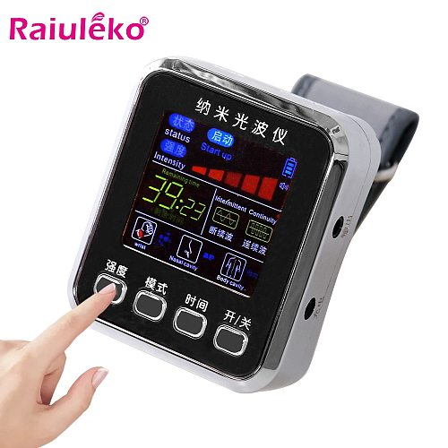 Laser Therapy Watch For Rhinitis Diabetes Therapy Hypertension Treatment Thrombosis Cholesterol Laser Physiotherapy Wrist Watch