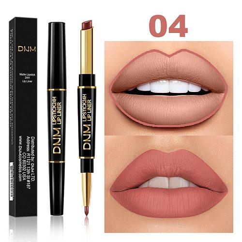 Lipstick Set Maquillajes Para Mujer Makeup Set Waterproof Lasting 2 In 1 Matte Make Up Lipstick Lip Liner Kit Cosmetic TSLM1