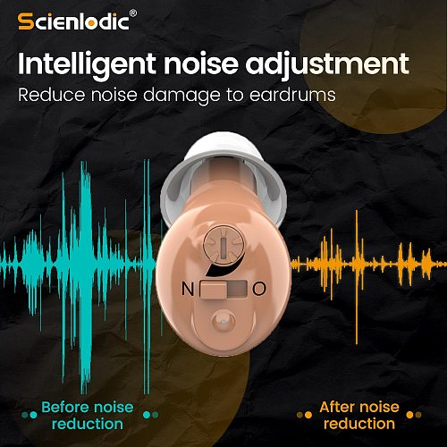 CIC Rechargeable Hearing Aids Invisible Hearing Aid Hearing Device for Deaf Mini Hearing Aids Hearing Amplifier for The Elderly