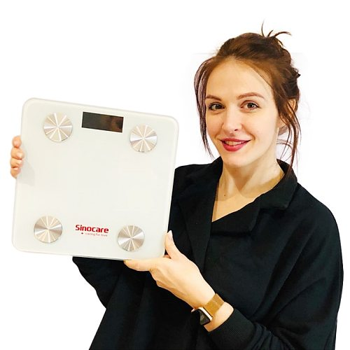 Sinocare Medical Smart Body Fat Scale Monitor balance connecte for  dieted   & fit Bluetooth Floor Monitor Medical-devices
