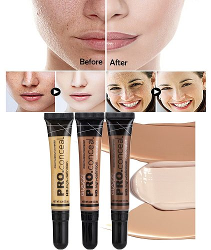 Nude Makeup Facial Foundation Waterproof Cover Blemish Base Fluid Concealer Oil Control Lasting Brighten Skin BB Cream Cosmetics