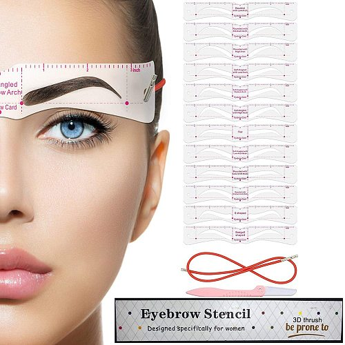 Grooming Shaping Balanced Template Eyebrow Makeup Magic Eye Brow Class Drawing Guide Eyebrow Stencil Card Template Helper